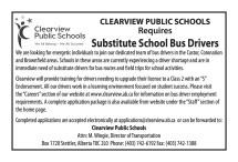 CLEARVIEW PUBLIC SCHOOLS Requires Substitute School Bus Drivers