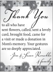 Thank You to all