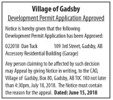 Development Permit Application Approved