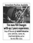Jordahl Enterprises has an Immediate Position Available