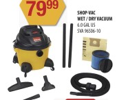 SHOP-VAC WET/DRY VACUUM