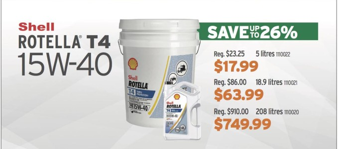 Save Up To 26% On Shell Rotella T4 15w-40