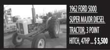 1962 FORD 5000 SUPER MAJOR DIESEL TRACTOR
