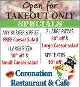 Specials at Coronation Restaurant & Cafe