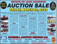 ESTATE OF JACK DAVIDSON AUCTION SALE
