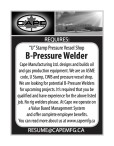 """U"" Stamp Pressure Vessel Shop B-Pressure Welder wanted"