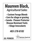 Maureen Black, Agricultural Sales