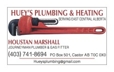 HUEY'S PLUMBING & HEATING SERVING EAST CENTRAL ALBERTA
