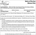 Notice of Election Advance Vote