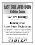 EAST SIDE AUTO BODY are hiring!