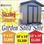 Metalex Metal Buildings Sizzling Summer Garden Shed Sale