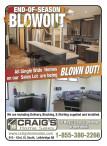 Craig's Home Sales END-OF-SEASON BLOWOUT