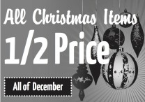 Center Street Thrift Store has All Christmas Items 1/2 Price