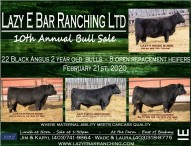 Lazy E Bar Ranching Ltd. 10th Annual Bull Sale