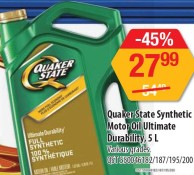 Quaker State Synthetic Motor Oil Ultimate Durability, 5L