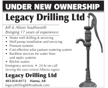 Legacy Drilling UNDER NEW OWNERSHIP