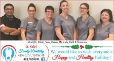 We would like to wish everyone a Happy and Healthy Holiday from Dr. Patel Family Dentistry