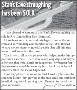 Stan's Eavestroughing has been SOLD.