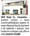 2 Storey Commercial/Residential property for sale