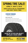 SPRING TIRE SALE at OK Tire