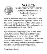 2018 PROPERTY TAX NOTICES