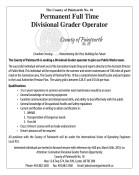Permanent Full Time Divisional Grader Operator wanted