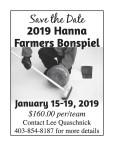 2019 Hanna Farmers Bonspiel