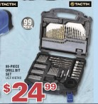 TACTIX 99 PIECES 99-PIECE DRILL BIT SET