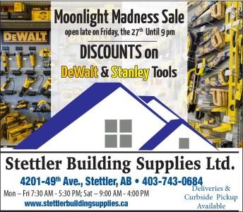 Stettler Building Supplies Moonlight Madness Sale