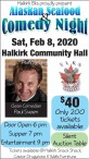 Halkirk Elks proudly present Alaskan Seafood & Comedy Night