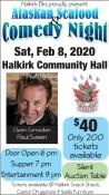 Halkirk Elks proudly present Alaskan Seafood & Comedy Night
