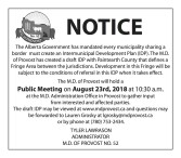 M.D. of PROVOST NOTICE