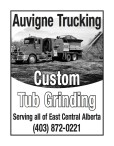 Auvigne Trucking  Custom Tub Grinding