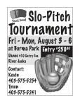 Sliced Bread Slo-Pitch Tournament