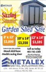 Sizzling Summer Garden Shed Sale