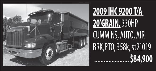 2009 Ihc 9200 T/a 20'grain