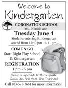 Coronation School Welcomes you to Kindergarten