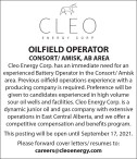 OILFIELD OPERATOR wanted