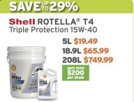 Shell ROTELLA® T4 Triple Protection 15W-40