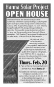Hanna Solar Project Open House