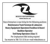 Bozco Enterprises is now hiring