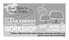 On-Farm CLEAN ENERGY & PROJECT FINANCING WORKSHOP