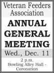 Veteran Feeders Association  ANNUAL GENERAL MEETING