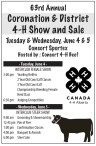 63rd Annual Coronation & District 4-H Show and Sale