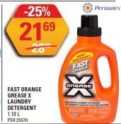 FAST ORANGE GREASE X LAUNDRY DETERGENT