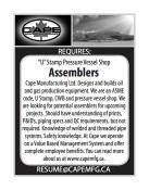 'U' Stamp Pressure Vessel Shop Assemblers