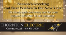 Season's Greetings and Best Wishes in the New Year from Thornton Electric