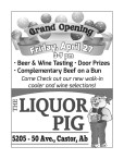 THE LIQUOR PIG Grand Opening