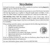 2% liquid strychnine concentrate will be available for purchase