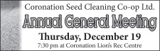 Coronation Seed Cleaning Annual General Meeting
